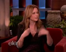 Jenna Fischer on Her Son On The Ellen Show