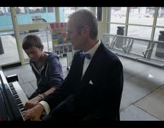 Great Beethovens Sonata in Bus Station