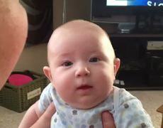 Cute Baby Hates Cat Sound Viral video