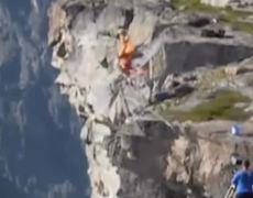 Cae por error 1200 metros y sale ileso