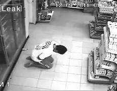 CCTV Video Man possessed by ghost