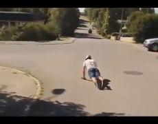Epic FAIL Skateboard Fall Then Win