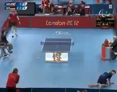 Juegos Paralímpicos 2012 Impresionante Partida De Tennis De Mesa