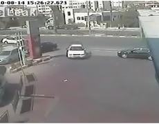 CCTV Video Car Crashes into Others by Accident And Makes Catastrophic Escape