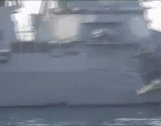 US Navy Ship Collides With Oil Tanker