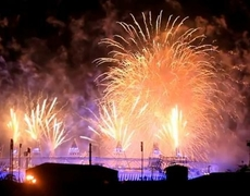 Olympic 2012 Closing Ceremony Magnificent Fireworks Part 2