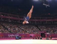 London 2012 Aly Raismans Floor Routine USA Team Win Gold Medal