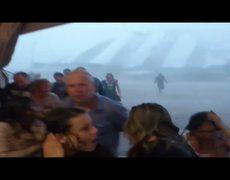 Terrible tormenta en Dicky Woodstock
