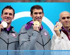 London 2012 Michael Phelps Wins Gold in 100Meter Butterfly