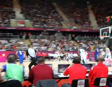 London 2012 USA vs France Kevin Durant Block
