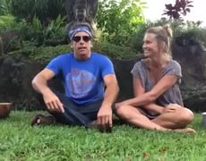 Ben Stiller and Christine Taylor ALS Ice Bucket Challenge