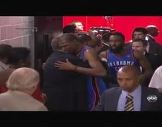 Kevin Durant fights back tears after losing 2012 NBA Finals to Miami Heat
