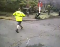 Garbage man and passing by woman save baby