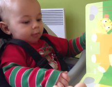 Viral video Baby Hears Lion Roar For First Time
