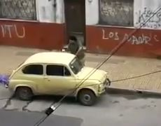 Fat Guy Steals Car The South American Style