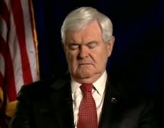 Newt Gingrich Falls Asleep on Screen