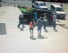 CCTV Video Baby Run Over And Survives