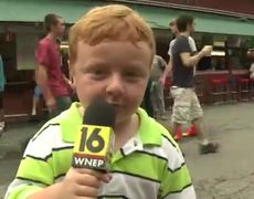 Kid Steals the Show During Interview