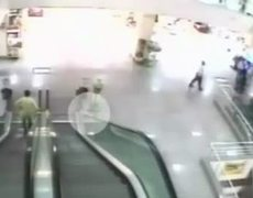 Boy That Falls 15 Feet Off An Escalator