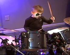 KISS Tribute Avery 5 Year Old Drummer