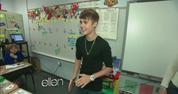 Justin Bieber Surprises a Classroom on Whitney Elementary School