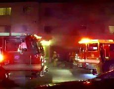 Hollywood arson car fire Los Angeles