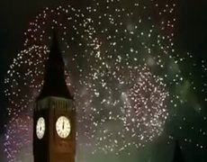 New Year 2012 on London Fireworks