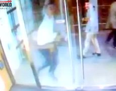 Glass Entrance stunt fail
