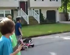 Bike Jump Fail and Mom Mad
