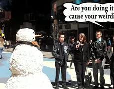 Snowman Funny Prank X