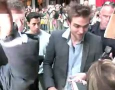 Robert Pattinson outside studio of The Late Show with David Letterman on NYC