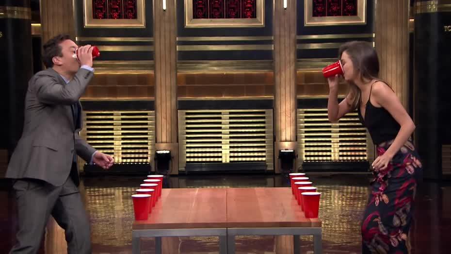 c335fafdabf Flip Cup with Miranda Kerr The Tonight Show - Videos - Metatube