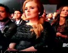 Lady Gaga Falls At The VMAs, Adele Looks Concerned