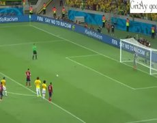 Brazil vs Colombia 21 James Rodriguez PENALTY Goal