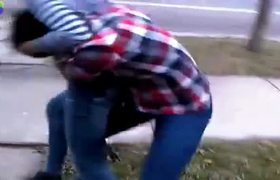 Girls fighting in underwear