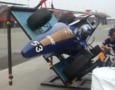 F-1 car tilt over