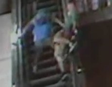Escalator Accident, Fall Caught on Video Tape
