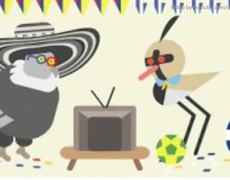 Google Doodle Colombia vs Uruguay World Cup 2014