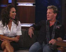 Chris Jericho and Cheryl Burke on Jimmy Kimmel Live