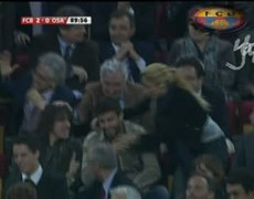 kiss from Shakira to Pique