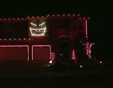 Focos en dia de halloween en casa al ritmo de la cancion ''Thriller