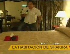 Visita exclusiva a la habitación de Shakira en Bolivia