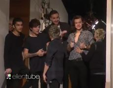 The Ellen Show One Direction Visits the Riff Raff