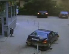 woman destroys her car after destroying another one