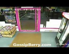 Moron Walks Into Glass Door
