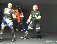 Anderson Silva and Lyoto Machida Sparring at Black House