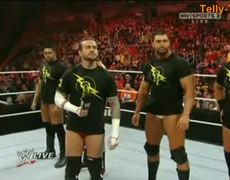 Wwe Raw 12411 Wade Barrett Corre Vs Cm Punk Nexus Videos