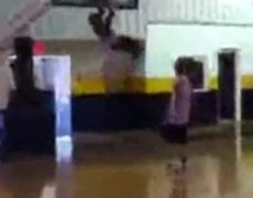Kid Pulls Off Impossible Dunk!