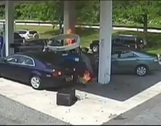Officer Saves Man From Gas Station Blast