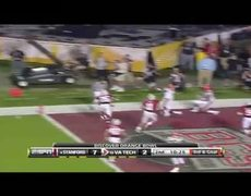 Tyrod Taylor amazing 11 yard TD pass in Orange Bowl vs Stanford